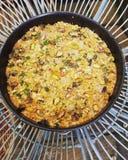 Il pistacchio e la zucca torta del vegano cuociono fotografia stock libera da diritti