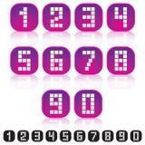 Il pixel numera le icone Immagine Stock Libera da Diritti