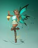 Il Pixie di turquois Fotografie Stock