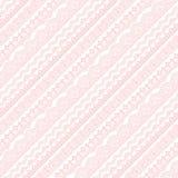 Il pizzo rosa barra il modello illustrazione di stock