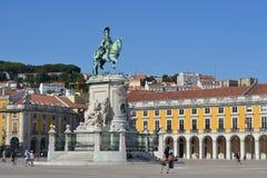 Il placa di Lisbona fa il comercio Fotografie Stock