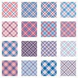 Il plaid modella le tonalità rosa e blu della raccolta, royalty illustrazione gratis
