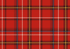 Il plaid scozzese Fotografia Stock