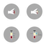 Il plasma sanguigno in vitro e le sue componenti Immagine Stock
