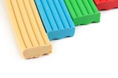 Il plasticine dei bambini di colore immagine stock