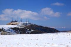 Il plateau di Utsukushigahara dell'inverno immagini stock