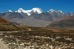 Il plateau tibetano Fotografie Stock Libere da Diritti