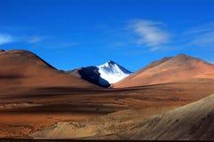 Il plateau tibetano sotto cielo blu Immagine Stock
