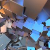 Il platino dell'oro d'argento o bianco blocca il fondo dei cubi Modellistica dell'illustrazione 3d concetto ricco del bitcoin di  royalty illustrazione gratis