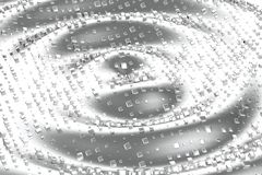 Il platino dell'oro d'argento o bianco blocca i cubi sopra il fondo dell'onda Modellistica dell'illustrazione 3d bitcoin ricco di illustrazione di stock