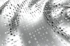 Il platino dell'oro d'argento o bianco blocca i cubi sopra il fondo dell'onda Modellistica dell'illustrazione 3d bitcoin ricco di royalty illustrazione gratis
