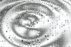 Il platino dell'oro d'argento o bianco blocca i cubi sopra il fondo dell'onda Modellistica dell'illustrazione 3d bitcoin ricco di illustrazione vettoriale