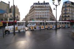 Il poco treno di Montmartre o di Le Petit Train de Montmartre Fotografie Stock