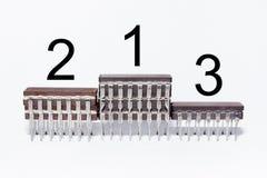Il podio dei premi fatto dei chip elettronici Fotografia Stock