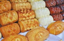 Il polacco tradizionale ha fumato il formaggio conosciuto come oscypek, Zakopane, Polonia Fotografie Stock