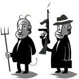 Il politico divertente, ha messo un'illustrazione di due vettori Fotografie Stock Libere da Diritti