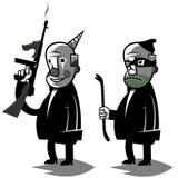 Il politico divertente, ha messo un'illustrazione di due vettori Immagine Stock