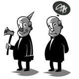 Il politico divertente, ha messo un'illustrazione di due vettori Fotografia Stock Libera da Diritti