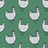 Il pollame disegnato a mano modella Immagini Stock