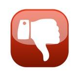 Il pollice giù gesture il vettore dell'icona Fotografie Stock Libere da Diritti