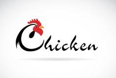 Il pollo di progettazione di vettore è testo Fotografie Stock Libere da Diritti