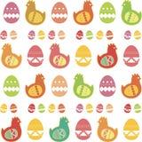Il pollo e l'uovo Tutti su fondo bianco Fotografie Stock Libere da Diritti