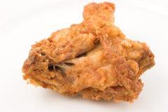 Il pollo ha fritto nel grasso bollente Immagini Stock Libere da Diritti