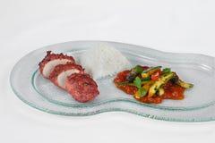 Il pollo indiano del piatto il tandoor con salsa piccante fotografie stock libere da diritti