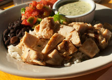 Pollo messicano di stile Fotografia Stock