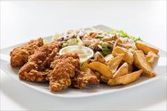 Il pollo mette a nudo il pranzo Fotografie Stock