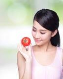 Il pomodoro è grande per salute Fotografie Stock Libere da Diritti