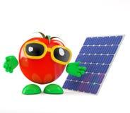 il pomodoro 3d usa l'energia solare Fotografia Stock