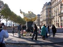 Il Pont de l il ` Alma è uno dei punti culminanti di Parigi, sviluppati dal millefoglie III, ha dato il nome della sua prima vitt Fotografie Stock