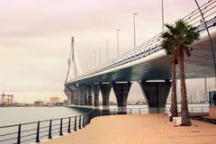 Il ponte a Cadice Fotografia Stock Libera da Diritti