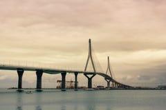 Il ponte a Cadice Fotografie Stock Libere da Diritti