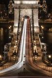 Il ponte a catena di Budapest fotografia stock