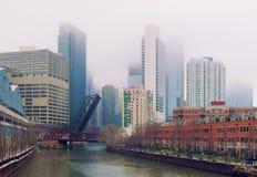 Il ponte in Chicago, Illinois, U.S.A. fotografie stock