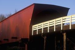 Il ponte coperto di Roseman in Madison County, Iowa Fotografie Stock Libere da Diritti