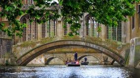Il ponte dei sospiri nell'università di Cambridge fotografia stock libera da diritti