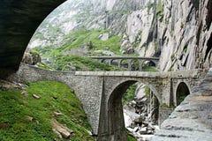 Il ponte del diavolo, Andermatt Fotografie Stock Libere da Diritti