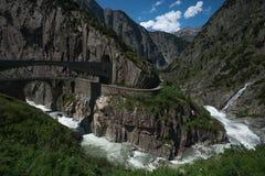Il ponte del diavolo, Andermatt, Svizzera Immagini Stock