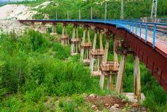 Il ponte del diavolo in Siberia Immagine Stock