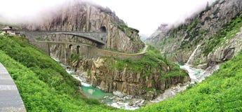 Il ponte del diavolo, Svizzera Fotografie Stock