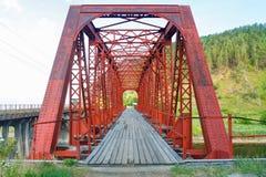Il ponte del ferro sul lago Baikal Immagini Stock Libere da Diritti