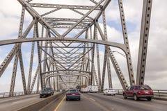 Il ponte del fiume di Calcasieu in Westlake, U.S.A. fotografia stock