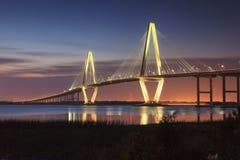 Sc di Charleston del ponte di junior di Arthur Ravenel Fotografia Stock Libera da Diritti