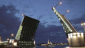 Il ponte del palazzo in San Pietroburgo. video d archivio