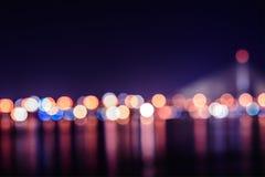 il ponte della città boken la carta da parati del hd delle luci Immagine Stock Libera da Diritti
