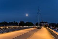 Il ponte della città a Odense, Danimarca immagine stock libera da diritti
