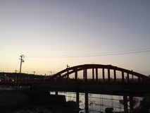 Il ponte della montagna di Taibai Fotografia Stock